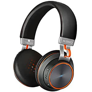 NUBWO S2 V4.1 Bluetooth kabellose On-Ear HiFi Stereo Kopfhörer mit Mikrofon für Handys, Tablets, Laptops & PC – Schwarz