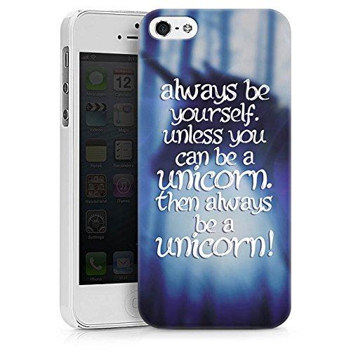 Apple iPhone X Silikon Hülle Case Schutzhülle Einhorn Unicorn Sprüche Hard Case weiß