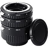Mcoplus Metal de soporte de plástico tubo de extensión automático Macro para Nikon D7100 D7000 D5300 D5100 D5000 D3100 D800 D750 D600 D300s D300 D90 D80