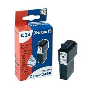 Pelikan C24  Cartouche compatible pour Canon BCI24Bk  10ml Noir