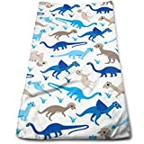 BAOQIN Long-Lasting Quality,Quickly Absorbs Moisture Stylish Handtuch Baby Blue Dinosaur Bath Handtuchs for Bathroom-Hotel-Spa-Kitchen-Set - Circlet Egyptian Cotton - Highly Absorbent Hotel Quality H
