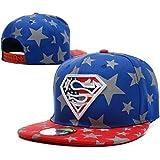 Lishuwan-HD Unisex Adjustable Fashion Leisure Baseball Hat Superman Snapback Dual Colour Cap