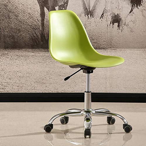 LSRRYD Bürostuhl Drehstuhl Mit Rollen Schreibtischstuhl Höhenverstellbar Esszimmerstuhl/Rückseite Loungesessel (Color : Green) -