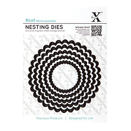 Cardstock Scalloped Circle (Docrafts stirbt Nistkasten, gewellter Kreis (5Stück))