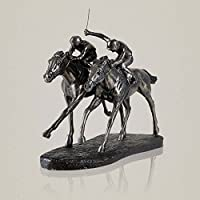 Asnvvbhz Horse Racing Decoration, Living Room Bedroom Resin Sculpture Ornament Craftwork Ornaments, 30 * 13 * 25cm