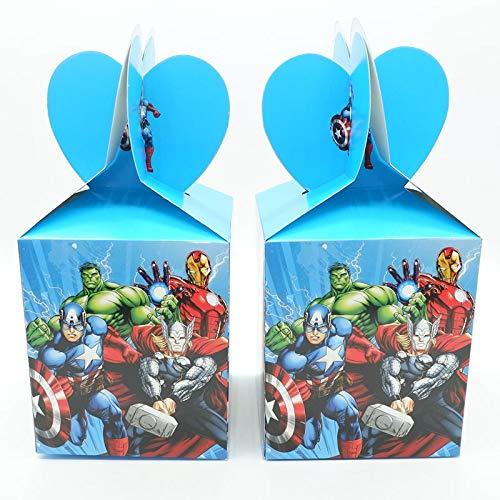 Tyro Avengers Süßigkeiten-Box, Cartoon, Geburtstagsparty-Dekoration, Motto Party, Party, Festival, Kindergeburtstag, Superhelden-Zubehör