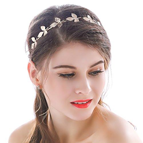 Diadema dorada para novia