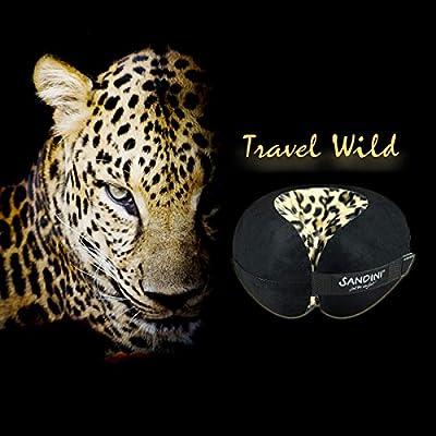 SANDINI TravelFix Regular Size – Premium Reisekissen mit Verschluss/Nackenkissen mit ergonomischer Stützfunktion – Verfügbar mit Outlast-Technologie – Gratis Transporttasche mit Befestigungs-Clip