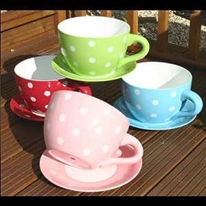 Botanico Cup and Saucer Planter - Polka Dot