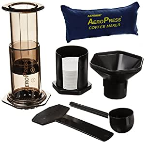 AeroPress 82R08 Coffee Maker with Tote Bag - Black
