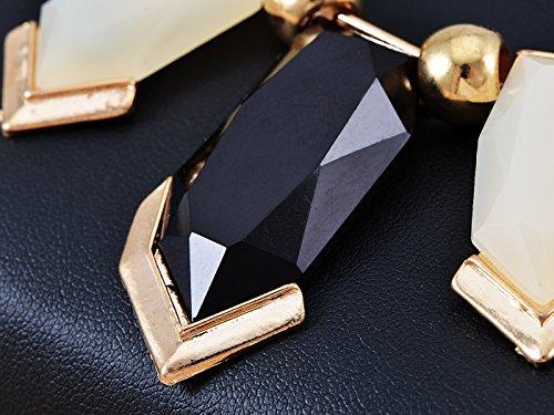 Collier pierres précieuses Fashion Collier avec ton doré Accents noir