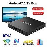 Android 7.1 T95Z MAX S912 HD TV-Box, Netzwerk-Player 3 GB + 32 GB Octa-Core-64-Bit-Prozessor 2,4 GHz / 5 GHz Dual-Band WiFi Bluetooth 4.0 1000 LAN Enternet-TV-Box für Heimkino-Spiele