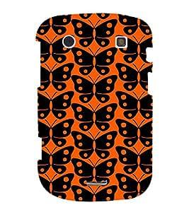 PrintVisa Designer Back Case Cover for BlackBerry Bold Touch 9900 :: BlackBerry Dakota :: BlackBerry Magnum (orange dotted unique butterfly amazing)