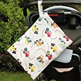 Wasserdichte Kinderwagentasche, Babytasche zum Aufhängen, für Windeln