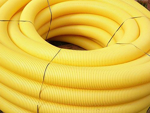 Drainagerohr DN80 gelb gelocht ROLLE 50m | wählbar auch DN50 - DN100