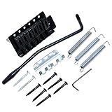 Lotmusic Kit chevalet à vibrato pour guitare électrique Strat Noir