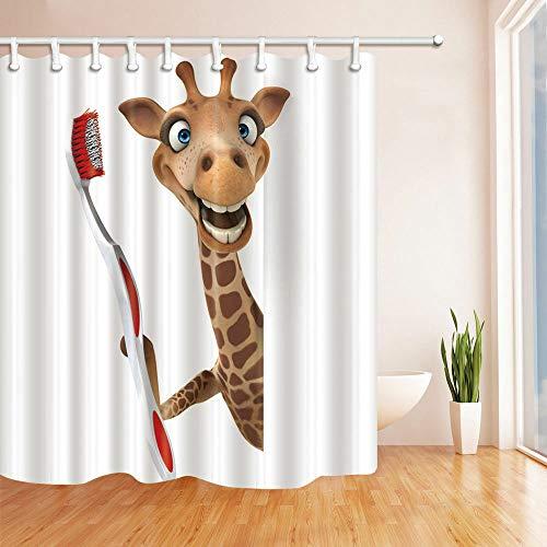 ajhgfjgdhkmdg Giraffe hält eine Zahnbürste im Badezimmer in Wasserdicht, pflegeleicht, strapazierfähig und Abriebfest