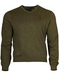 Ralph Lauren Hommes Chandail Vert Pima Cotton RN41381PSZ-01W-GN
