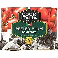Cocinero italiano peladas Tomates de ciruelo 4 x 400g