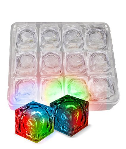 Fun Central AC966 LED Light Up Blinky Ice Cubes - Multicolor - 12ct