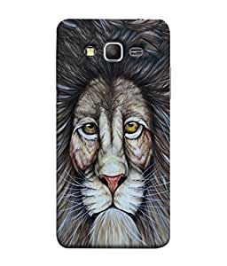 Samsung Galaxy Core Prime, Samsung Galaxy Core Prime G360, Samsung Galaxy Core Prime Value Edition G361, Samsung Galaxy Win 2 Duos Tv G360Bt, Samsung Galaxy Core Prime Duos Back Cover Hand Drawn Graphic Portrait Of A Lion Line Art Design From FUSON