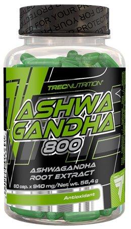 Trec Nutrition Ashwagandha 800 Unterstützt Die Gedächtnisfunktion Und Konzentration Steigert Leistungsfähigkeit 60 Kapseln
