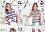 King Cole Girls Tops Cottonsoft Crush Knitting Pattern 4771 DK