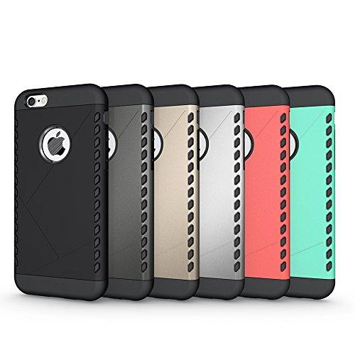 iPhone 6S Plus Hülle, Pasonomi® [Outdoor] [Heavy Duty] [Dual Layer] Ultra-dünne Schutzhülle Case Cover mit Ständer für Apple iPhone 6 Plus (2014) / iPhone 6S Plus (2015) (Kickstand-Rot) Shield-Graue