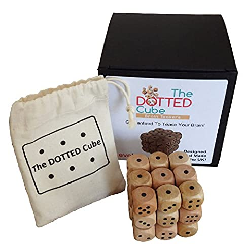 The Dotted Cube Brain Teaser - Level 1 - Wooden Cube Puzzle, Made In The UK, Difficult Puzzle, 3D Puzzle, Original Brain Teaser Puzzle Box For Children Or Adults Perfect Christmas Or Birthday Present