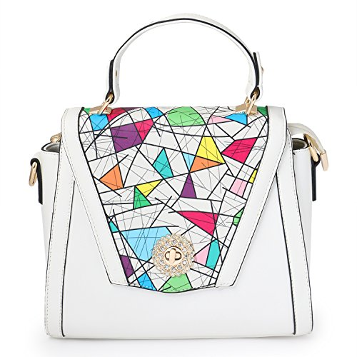 Stylathon Modern White Colour Hand-held Bag For Women