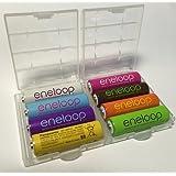 Panasonic eneloop lot de 8 piles mignon type aA - 2000 mAh-bK - 3MCCE (min. 1900mAh + 2 boîtiers hEIBA