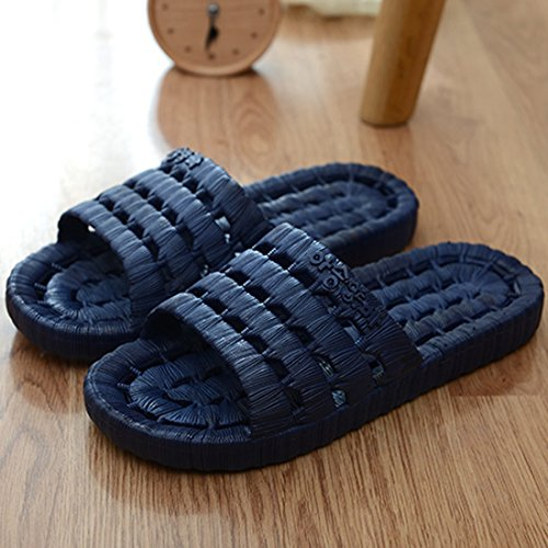 Oasap Men Hot Sale Cozy Hollow Out EVA Slippers Navy
