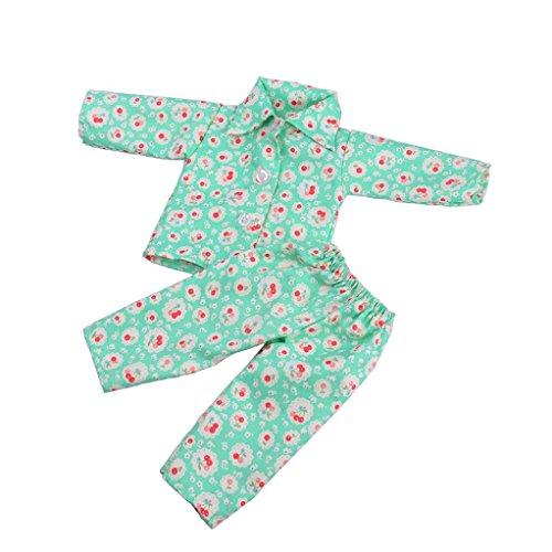 Hirolan Niedlich Pyjama Nachthemd Kleider zum 18 Zoll Unser Generation amerikanisch Mädchen Puppe Sommer Badeanzug Baden Kleider Princess Kleidung Abendkleid American Girl Puppe (J) (Retro American Taschen)