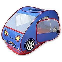 Tienda-coche plegable GIM para niños con piscina de bolas, para interior y exterior.