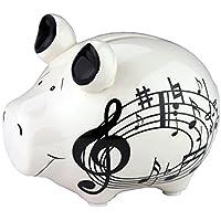 Sparschwein mit Notenlinien - Schönes Geschenk für Musiker preisvergleich bei kinderzimmerdekopreise.eu