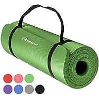 Reehut 12mm NBR Yogamatte, Gymnastikmatte + Tragegurt Extra-Dick Rutschfest Phthalatenfrei Unisex Fitnessmatte für Yoga Pilates Fitness Gymnastik, 181 x 61 cm