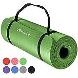 Reehut Tappetino 12mm Yoga Pilates Fitness Allenamento Gomma NBR Espansa Alta Densità con Cinturino...