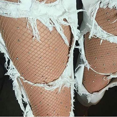Yaohxu Strumpfhosen Damen Hautfarben,Mode Frauen Net Fishnet Bodystockings Muster Strumpfhosen Strümpfe,Strumpfhosen Damen schwarz,Khaki,