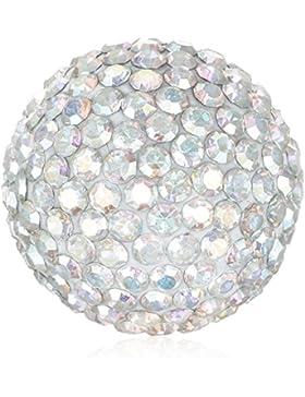 Engelsrufer Damen-Anhänger Klangkugel Crystal Metalllegierung Glas weiß - ERS-01-ZI-S