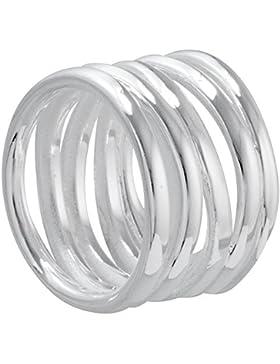 Vinani Ring gewickelte Bänder offen glänzend Sterling Silber 925 RVB