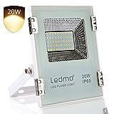 LEDMO® 30w conduit flood lights,ip65 imperméables à l'extérieur Projecteur LED,la lumière blanche, 6000k, 3000lm,contre un halogène équivalent,des lumières de sécurité,déluge de lumière