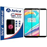 AVICA® Full Edge To Edge Black 3D Curved Tempered Glass Screen Protector For One Plus 5T/1+5T/OnePlus 5T