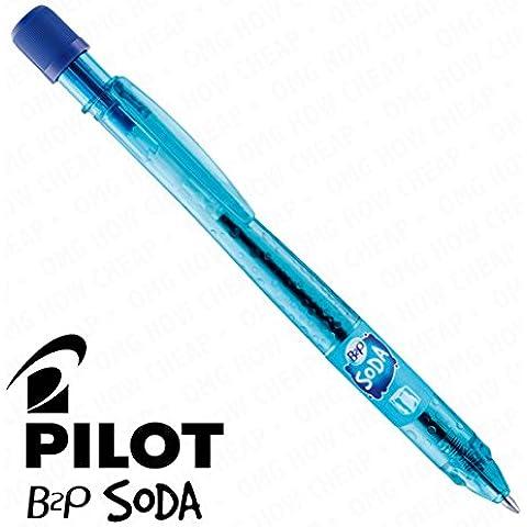 Soda Pilot-Penna a sfera retrattile, singolo, colore: blu ghiaccio, colore: verde menta [94] %plastica riciclata