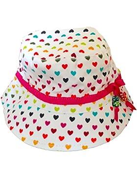 Ragazza in cotone cappello da sole - motivo cuori stampa, perline decorative