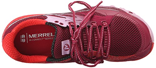 Merrell - All Out Charge, Scarpe da Trail Running Donna Rosso (Bright Red)