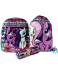 Hasbro® My Little Pony Back To School Sets inc Backpack, Messenger, Trainer Bag, Lunch Sets, Sports Bottle & Pencil Case
