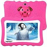 TOPSHOWS Tablet per Bambini da 7 Pollici,Quad Core 1GB+16GB Tablet Educativo, con Custodia in Silicone Stander,iWawa Software preomstallato,ROSSO