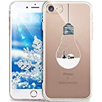 KeKeYM für iPhone 6 4.7 Zoll Hülle, Schneedecke für iPhone 6, Durchsichtige Hülle für iPhone 6S, Transparente Silikonhülle TPU Silikon Hülle für iPhone 6S - Schnee/Glühbirne
