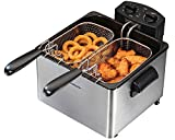Hamilton Beach 35034 Professional-Style Deep Fryer Silver Image