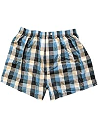 Mens Pringle 1 Pack Checked Woven Cotton Boxer Shorts Trunk Underwear